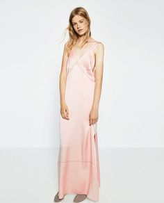 Pin for Later: The Most Stylish Wedding Guest Dresses — at Every Price Point  Zara Dress With Contrasting Topstitching ($149)