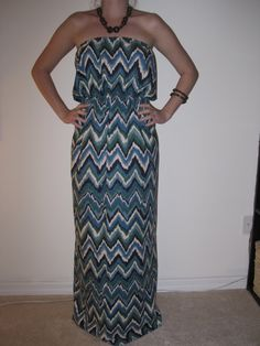 Chevron Maxi Dress  Size Small by AnniesApparel on Etsy, $25.00
