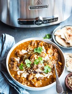 Beef massaman curry from Thailand is deliciously aromatic and intensely flavourful, perfect for the cold weather and cooks quick in the slow cooker to boot. Slow Cooker Recipes, Beef Recipes, Chicken Recipes, Cooking Recipes, Slow Cooking, Beef Meals, Thai Beef Curry, Chicken Massaman Curry, Kitchens