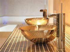 Shiny Gold Bathroom Fixtures - So Nice!
