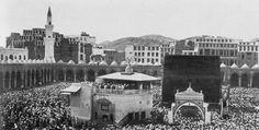 صورة قديمة للكعبة المشرفة بمكة المكرمة. المملكة العربية السعودية، عام 1910. Mecca. Saudi Arabia, 1910.