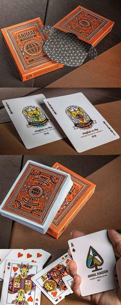 Theory11 collaborated with Hatch Design for a special edition deck of  Animal Kingdom Playing Cards. The playing cards feature hand-illustrated custom artwork by Hatch Design of San Francisco and 1 dollar per deck purchased will be donated to World Wildlife Fund to benefit global conservation efforts.