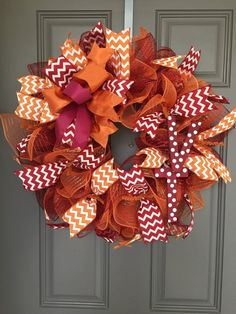 Virginia Tech Hokies Deco Mesh Wreath