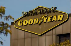 Goodyear Tire and Rubber Company Global Headquarters, Akron, OH Tyre Companies, Amish Farm, Goodyear Tires, Akron Ohio, Tires Ideas, Business, Cities, Signs, Branding