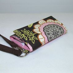 Cell Phone Wallet Wristlet Case