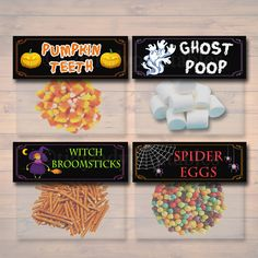 Halloween Treat Bag Toppers Halloween Favor Tags Halloween Candy Labels Printable Trick or Treat Bags Kids Halloween Halloween Snacks, Halloween Goodie Bags, Goodie Bags For Kids, Halloween Words, Halloween Treats For Kids, Halloween Labels, Halloween Party Favors, Cute Halloween, Goody Bags