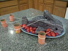 Bite into this gluten-free, red velvet shark cake Gluten Free Desserts, Gluten Free Recipes, Shark Cake, Shark Party, Eat Dessert First, Party Treats, Sweet Desserts, Light Recipes, Summer Recipes