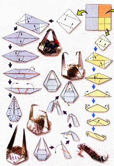 Diagram of origami of the zodiac: Libra Types Of Purses, Japanese Origami, Easy Origami, Origami Instructions, Libra Zodiac, Cool Pins, Balance, Signs, Voici