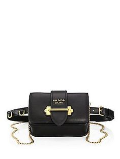 Prada Marsupio Leather Cahier Belt Bag - Sale! Up to 75% OFF! Shop at Stylizio for women's and men's designer handbags, luxury sunglasses, watches, jewelry, purses, wallets, clothes, underwear & more!