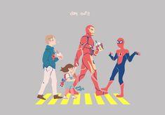 Day out with Tony's (human) children! Avengers Fan Art, Marvel Fan Art, Marvel Jokes, Marvel Funny, Marvel Dc Comics, Marvel Avengers, Familia Stark, Stark Family, Superfamily Avengers