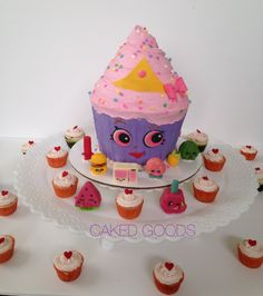 Shopkins Cake and Cupcakes with Chocolate Figurines by Caked Goods