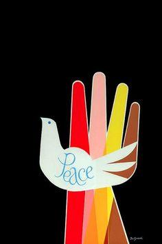 design-is-fine:  Joe Simboli, poster design Peace, 1968.