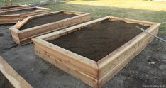 How to build your own garden box.  This is a perfect tutorial!  Great design!