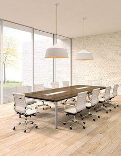 Mesa de reuniones electrificada