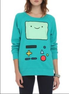 Adventure Time BMO Reversible Girls Pullover - Got to have it! 8eb4f3d5e74cc