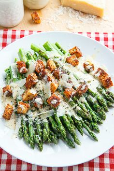 Browse photos of delicious, easy asparagus recipes to get inspiration for your own family dinners. Three cheese asparagus gratin and caesar grilled asparagus are only a few of the delicious recipes included in this round-up. Side Dish Recipes, Vegetable Recipes, Vegetable Salad, Grilled Asparagus Recipes, Vegetarian Recipes Asparagus, Grilled Vegetables, Salmon Recipes, Clean Eating, Healthy Eating