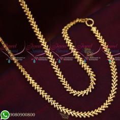 Gold Plated Fancy New Design Chain Copper Metal 24 Inches Daily Wear Imitation 6 mm wide chain New chains would be stiff intially. On usage it will turn normal. Total length of the chain is 24 inches. Base metal is copper and plating colour is Gold Mangalsutra Designs, Gold Earrings Designs, Necklace Designs, Gold Chain Design, Gold Jewellery Design, Gold Chain Indian, Gold Jewelry Simple, Simple Earrings, Gold Chains For Men