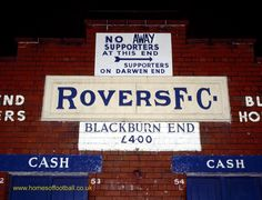 Welcome to Ewood Park, Blackburn Rovers,England year1990 by Stuart Roy Clarke  #brfc #FLKickOff #leemack
