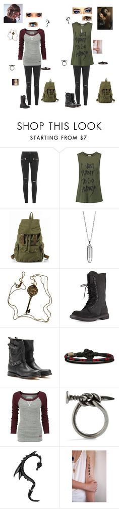 """""""2 friends"""" by bluecannarie on Polyvore featuring Paige Denim, Haute Hippie, Akillis, Tiffany & Co., Rick Owens, rag & bone, Hollister Co. and Superdry"""