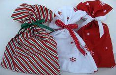 Elegante envoltura de tela para regalos