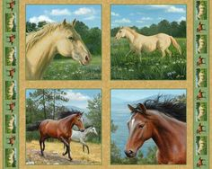 Horse Fabric Panels | Stuff vs things: Musings about minimalism, self-sufficiency, and ...