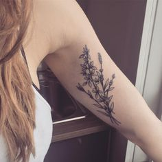 Thyme and lavender bunch for her first tattoo. Thanks Marley!