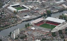 The City Ground - Nottingham Forest (Foreground) & Meadow Lane - Notts County (Background)