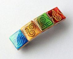 Four Nations Inspired Scrabble Tile Barrette  by HoneysuckleRoseC