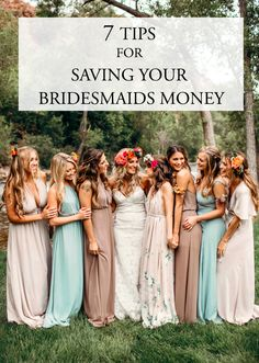 Consider a few of these tips for saving your bridesmaids money as you plan bridal party looks, activities, gifts, and accommodations. Hippie Bridesmaid Dresses, Brides And Bridesmaids, Bridesmaid Gifts, Bohemian Wedding Inspiration, Bridesmaid Inspiration, Neutral Wedding Colors, Bridal Party Shirts, Wedding Advice, Wedding Ideas