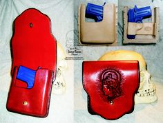 New pouch holster design! www.slickbald.com #holster #leather #slickbald #concealcarry
