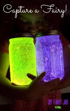 DIY Fairy Jar Tutorial Craft...this is cute an added twist on the one @Denise H. H. Marquez posted maybe we could use clear glowie paint and the purple is cute