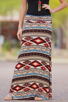 The Tribal Way Maxi Skirt from Closet Candy Boutique