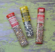 Vintage Craft Glitter & Silver Sequins Woolworth's Chemtoy by TinselandTrinkets on Etsy https://www.etsy.com/listing/584109651/vintage-craft-glitter-silver-sequins