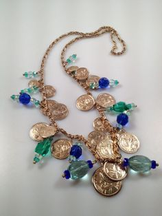 IBA Sunken Treasure Necklace Coins and by InspiredByAmber on Etsy, $74.00