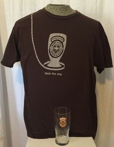 "New Castle Brown Ale Beer T-Shirt & Pint Glass Gift Set. Pint Glass-no chips or cracks. T-shirt: ""Walk the Dog"". Size XL - 100% cotton. Design Logo - Bright & no scratches. 