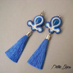 Netka Bijou Soutache Earrings, Drop Earrings, Shibori, Beadwork, Diy And Crafts, Jewelery, Fashion, Stud Earrings, Necklaces
