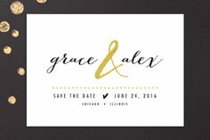 All that Sparkles Save the Date Cards by robin ott design at minted.com