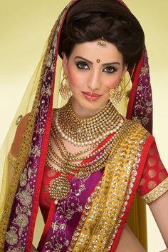Asian Wedding Inspiration from Asian Bride Magazine Indian Indian Bridal Wear, Asian Bridal, Pakistani Bridal, Pakistani Makeup, Punjabi Wedding, Perfect Bride, Beautiful Bride, Beautiful Women, Perfect Match