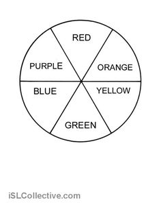 Kids Colour Wheel Template Google Search Colours Pinterest
