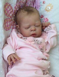 Joanna's Nursery Adorable Reborn Baby Girl New Release Erin by Adrie Stoete Reborn Baby Girl, Baby Born, Bb Reborn, Newborn Baby Dolls, Reborn Dolls, Reborn Babies, Dolls Dolls, Barbie Dolls, Life Like Baby Dolls