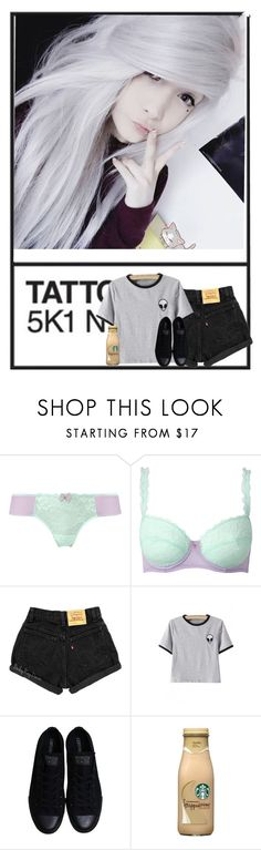 """""""Sammie"""" by mad-die-hatter ❤ liked on Polyvore featuring WithChic, Converse, men's fashion and menswear"""