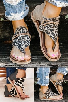 Fashion Tips What To Wear Women Fashion Leopard Flat Heel Slip On Sandals.Fashion Tips What To Wear Women Fashion Leopard Flat Heel Slip On Sandals Look Fashion, Fashion Shoes, Fashion Outfits, Womens Fashion, Fashion Tips, Fashion Spring, Mode Outfits, Casual Outfits, Vetements Shoes