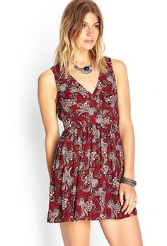Paisley Print Tie-Back Dress | FOREVER 21 - 2000121554