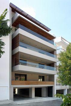 Architecture Building Design, Home Building Design, Brick Architecture, Facade Design, Exterior Design, 3 Storey House Design, House Front Design, Modern House Design, Facade House