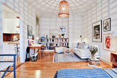 Jurnal de design interior - Amenajări interioare : Stil scandinav într-o garsonieră de 38 m²