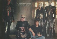 Clive Barker and the Cenobites. Awesome people hanging out together