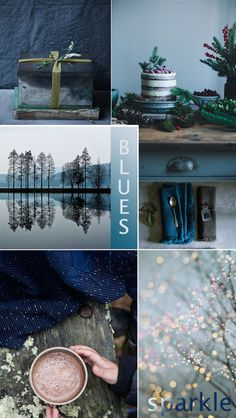 Christmas mood board 'blues'