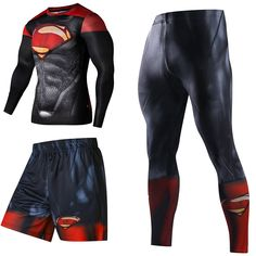 Superhero Tracksuits Sport Suit Quick Dry Running sets Clothes Sports Joggers Training Gym Fitness for Man Man Set, Gym Shorts, Mens Fitness, Gym Fitness, Fashion Prints, Mens Suits, Gym Workouts, Sport Outfits, Gym Men