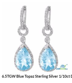 6.5TGW Blue Topaz Sterling Silver 1/10ct Diamond E for more details visit http://coolsocialads.com/6-5tgw-blue-topaz-sterling-silver-1-10ct-diamond-e-12275