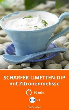 Scharfer Limetten-Dip - mit Zitronenmelisse - smarter - Kalorien: 53 Kcal - Zeit: 10 Min. | eatsmarter.de